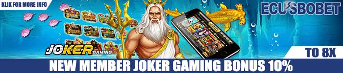 Promo JokerGaming New Member Game Slot Online 10%
