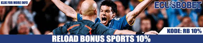 Reload Bonus Judi Taruhan Bola Sports 5%