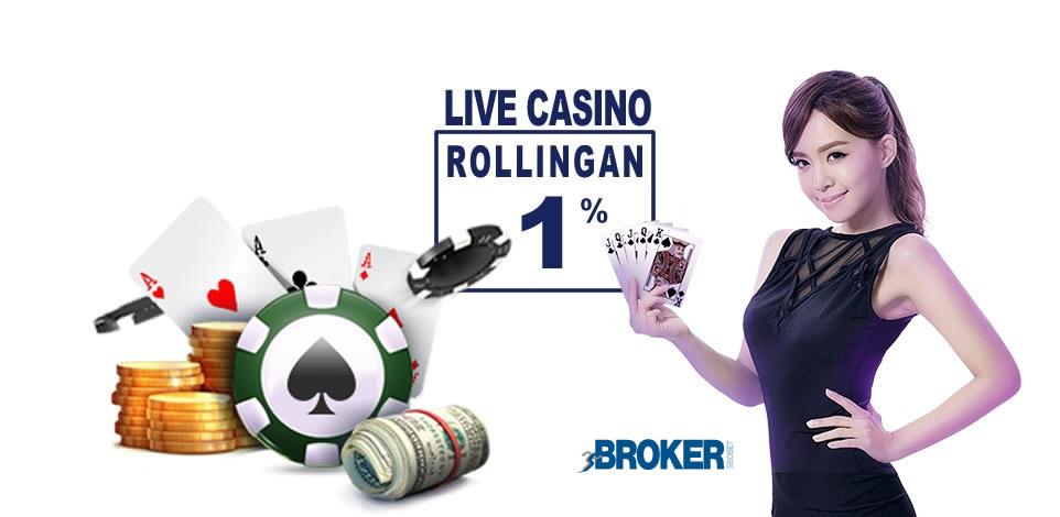 Bonus Komisi Rollingan Live Casino Online
